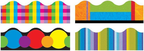 Trend Enterprises Inc Classroom Trimmers Borders Variety Pack - Colour Collage