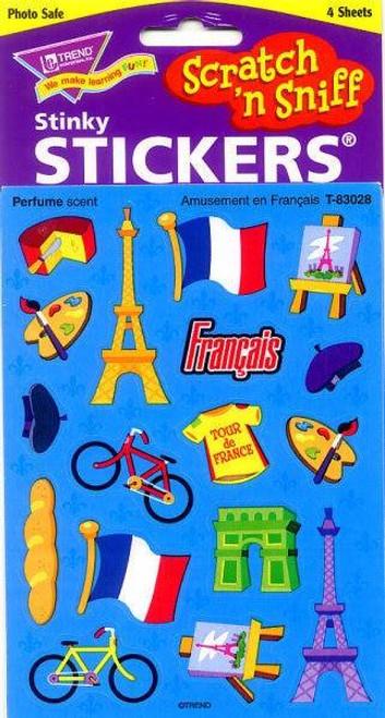 Trend Enterprises Inc Amusement en Francais - French Scratch n Sniff Reward Stickers