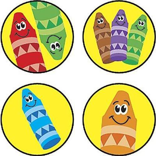 Trend Enterprises Inc 800 Crayon Colours SuperSpots mini reward Stickers