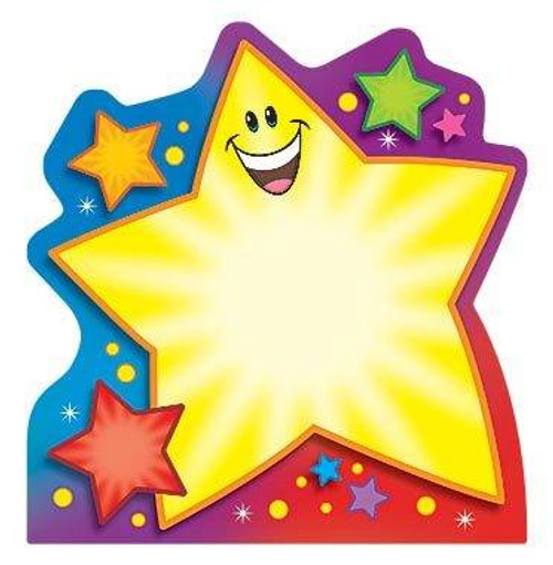 Trend Enterprises Inc Super Star Shaped Childrens Fun Note Pad