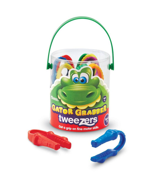 Learning Resources Learning Resources, Childrens Gator Grabber Tweezers Tub of 12