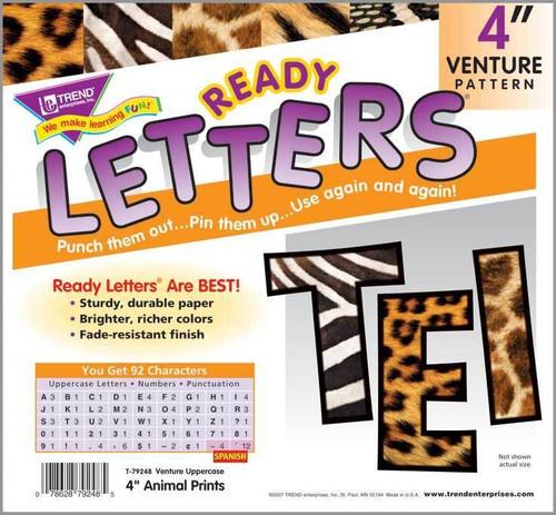 Trend Enterprises Inc Trend Display Ready Letters - Animal Print 4 Venture