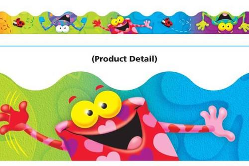 Trend Enterprises Inc Classroom Trimmers Notice Board Display Borders - Frog-tastic Frolic