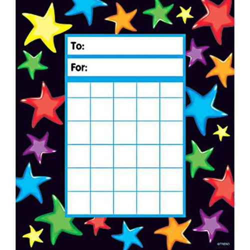 Trend Enterprises Inc Gel Stars Incentive Chart Pad and 200 Free Reward Stickers