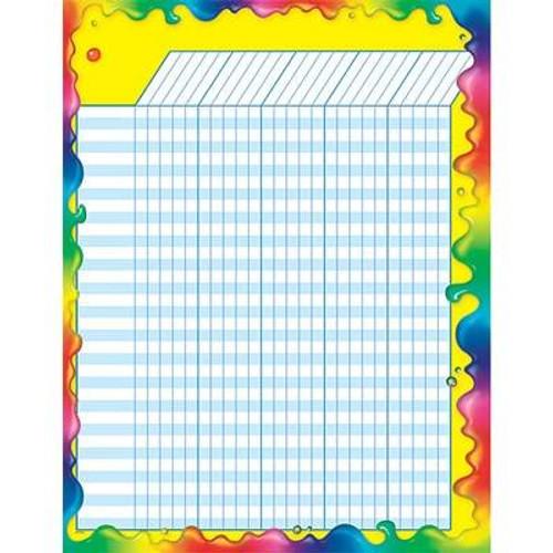 Trend Enterprises Inc Rainbow Gel Design Large Durable Incentive Wall Reward Chart