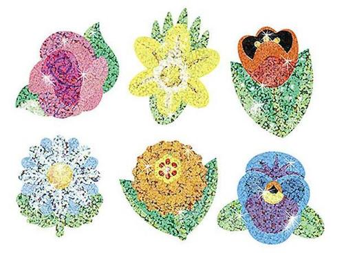 Trend Enterprises Inc Sparkling Flowers Sparkle Reward Stickers