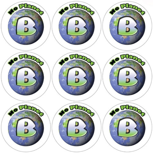 Sticker Stocker 144 There is no Planet B 30mm Reward Stickers for School Teachers, Parents and Nursery