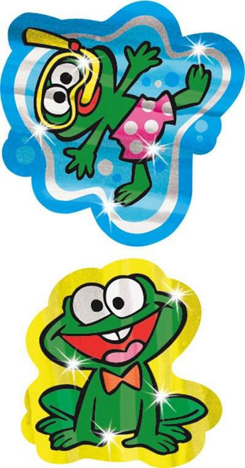Trend Enterprises Inc TREND Funny Frogs Foil Bright Reward Stickers