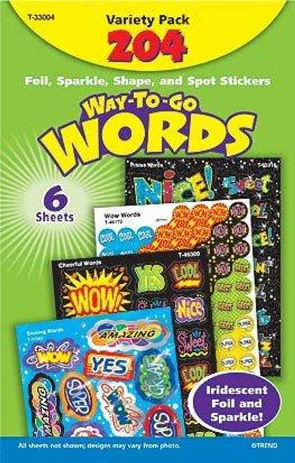 Trend Enterprises Inc Way To Go Words Mixed Reward Stickers Variety Pack
