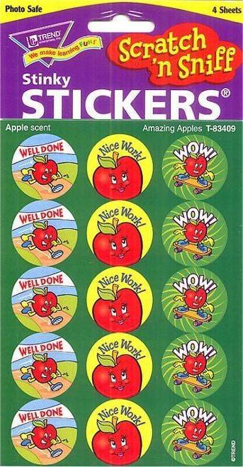 Trend Enterprises Inc 60 TREND Amazing Apple Scratch n Sniff Stinky Reward Stickers