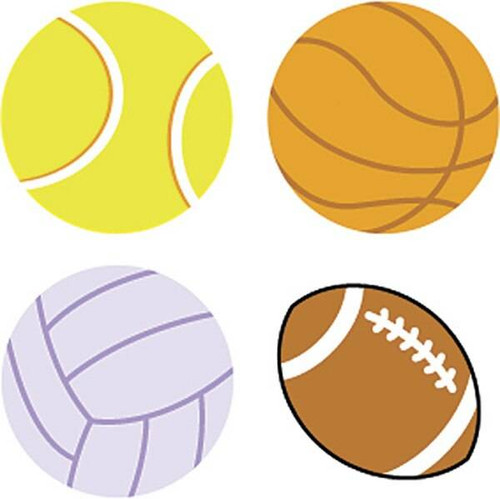Trend Enterprises Inc 800 Sports Balls superShapes chart reward Stickers