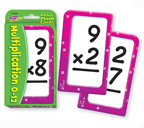 Trend Enterprises Inc Trend Teaching MULTIPLICATION Educational Pocket Flash Cards
