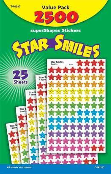 Trend Enterprises Inc 2500 Star Smiles superShapes multi coloured reward Stickers
