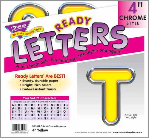 Trend Enterprises Inc Display Board Ready Letters - Yellow Colourful Chrome 4