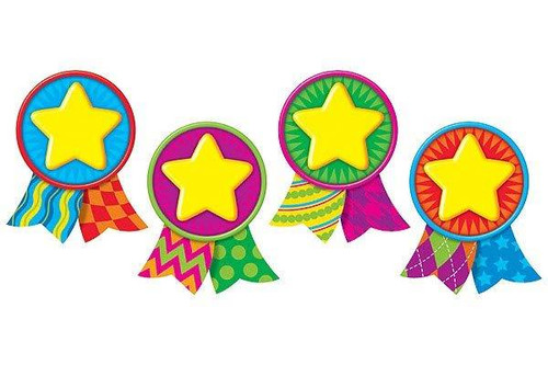 Trend Enterprises Inc Star Medals - Pin up classic display accents - Variety Pack