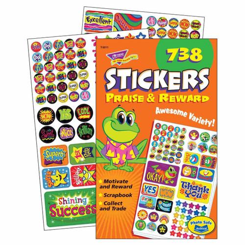 Trend Enterprises Inc 738 Praise and Reward Teacher Sticker Pad
