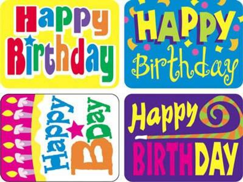 Trend Enterprises Inc TREND 100 Happy Birthday Applause reward stickers