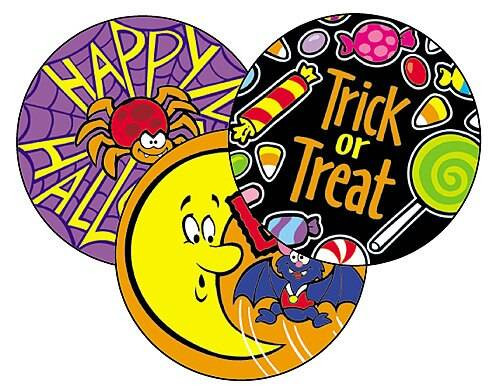 Trend Enterprises Inc 60 TREND Halloween Rootbeer Scratch n Sniff Reward Stickers