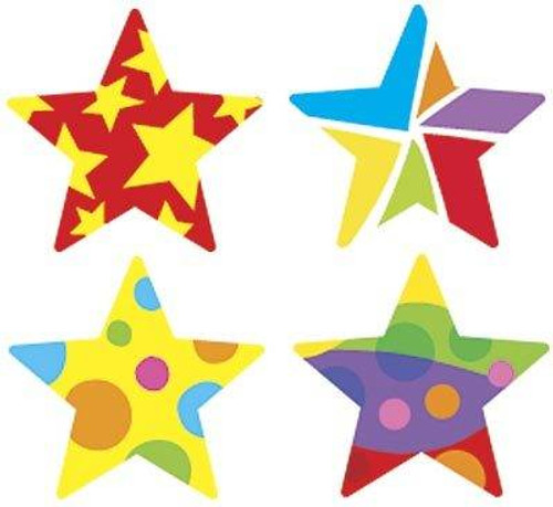 Trend Enterprises Inc 800 Star Medley superShapes reward Stickers