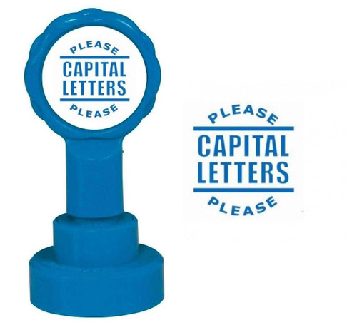 XStamper Capital Letters Please - Self inking teacher reward xstamper xclamations stamp