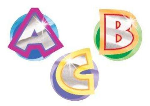 Trend Enterprises Inc 160 Alphabet Fun Foil Bright Stickers
