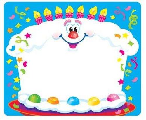 Trend Enterprises Inc 36 TREND Happy Birthday Name Tag Badge Stickers