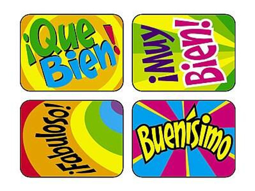 Trend Enterprises Inc 100 Large TREND Applause Spanish ¡Fabuloso Reward Stickers