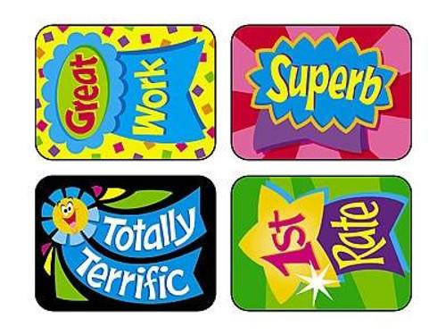 Trend Enterprises Inc TREND 100 Large Reward Ribbons Applause reward stickers