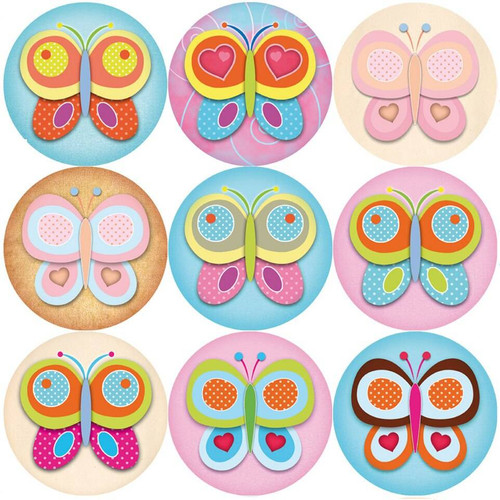 Sticker Stocker 144 Colourful Butterflies 30mm Reward Stickers for Teachers, Parents, Party Bags