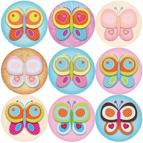 Sticker Stocker 144 Colourful Butterflies 30mm Reward Stickers for Teachers, Parents, Party Bags
