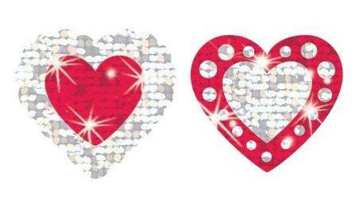 Trend Enterprises Inc Shimmering Hearts Sparkle Reward Stickers