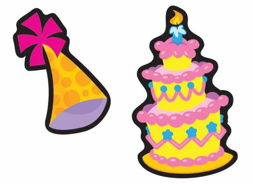 Trend Enterprises Inc Big Birthday Chocolate Cake Scratch n Sniff Reward Stickers