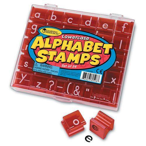 Learning Resources Learning Resources - Lowercase Alphabet and Punctuation Stamps Set