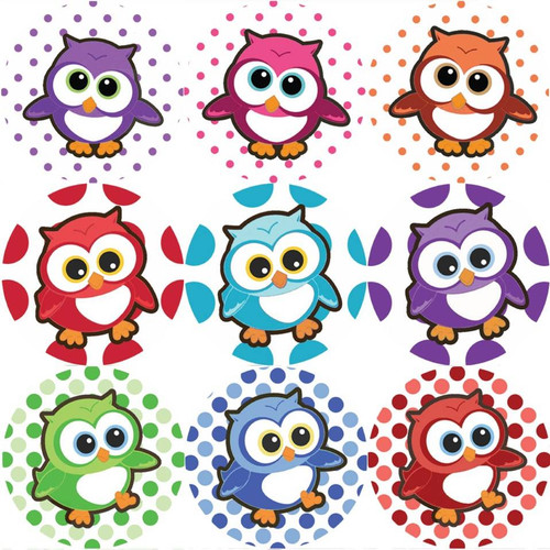 Sticker Stocker 144 Adorable Owls 30mm Childrens Reward Stickers for Teachers or Parents