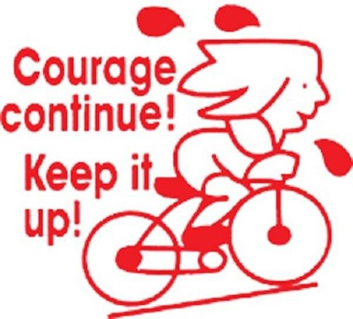 XStamper Courage Continue Keep it up - Self inking teacher reward xstamper xclamations stamp