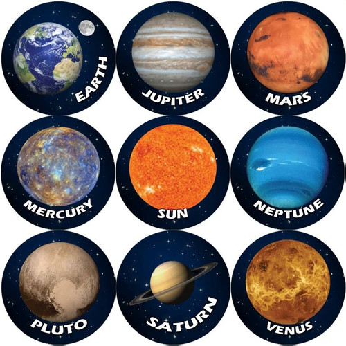 Sticker Stocker 144 Solar System Planets 30mm Space Reward Stickers for Teachers or Parents