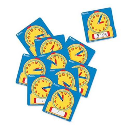 Learning Resources Learning Resources - Write-on/Wipe-off Student Clocks 10 pack