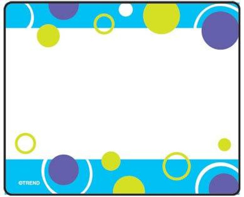 Trend Enterprises Inc 36 TREND Blue Fizz Name Tag Sticker Labels