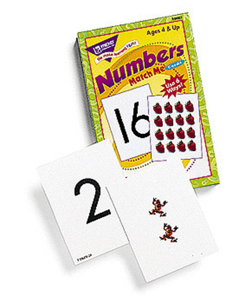 Trend Enterprises Inc Numbers 0-25 Match Me Cards Numeracy Educational Game