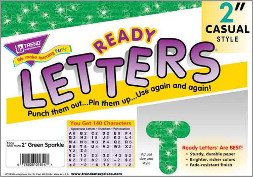 Trend Enterprises Inc Display Board Ready Letters - Sparkle Green 2 Casual