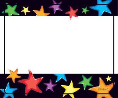Trend Enterprises Inc 36 TREND Gel Stars Childrens Name Tag Stickers