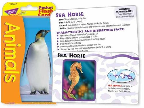 Trend Enterprises Inc Trend ANIMALS Pocket educational Flash Cards