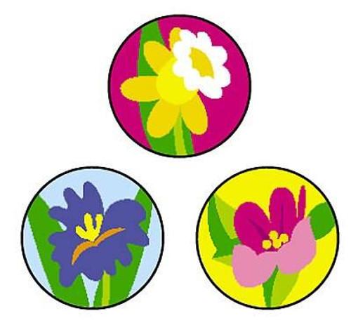 Trend Enterprises Inc 800 Spring Flowers SuperSpots mini reward Stickers