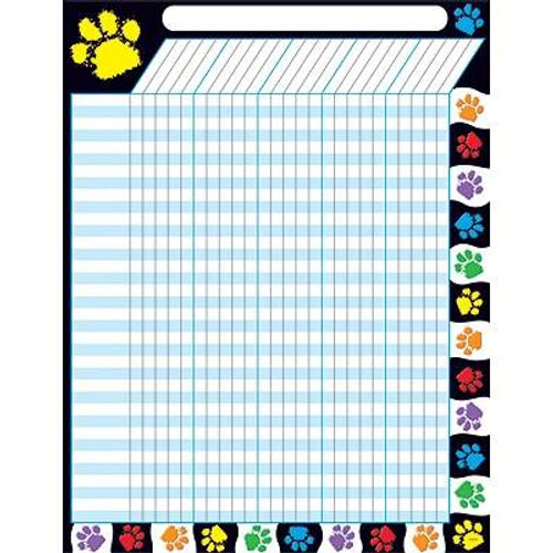 Trend Enterprises Inc Paw Prints - Large Durable Incentive Wall Reward Chart