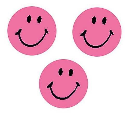 Trend Enterprises Inc 800 Neon Pink Smiles SuperSpots mini reward Stickers