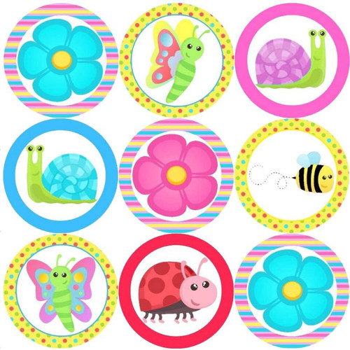 Sticker Stocker 144 Summer Bugs 30mm Reward Stickers for Teachers, Parents and Spring Party Bags