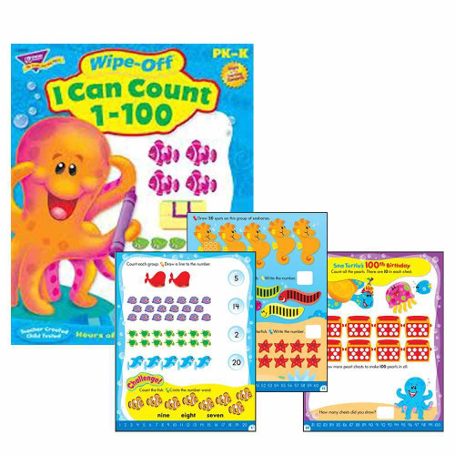 Trend Enterprises Inc I Can Count 1-100 Wipe Off Educational Activity Book