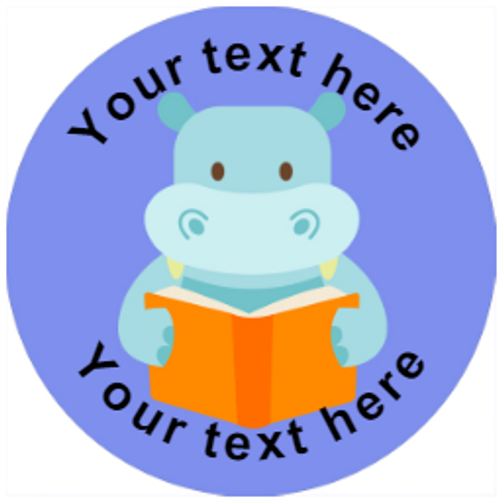 Sticker Stocker 144 Personalised Reading Animals 30mm Reward Stickers for School Teachers, Parents and Nursery