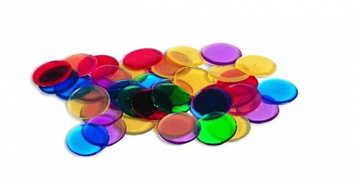 Learning Resources Learning Resources - 250 Transparent Counters - 2cm in 6 colours