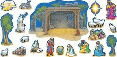 Trend Enterprises Inc Nativity Christmas Bulletin Board Set Large Classroom Display